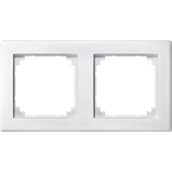 elektroartikel g nstig hier im online shop merten 484219 m smart rahmen 2fach polarweiss. Black Bedroom Furniture Sets. Home Design Ideas