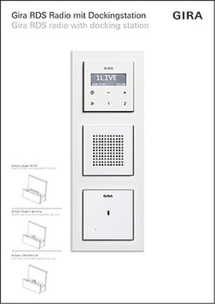 elektroartikel g nstig hier im online shop gira 1550510 p display up radio rds. Black Bedroom Furniture Sets. Home Design Ideas